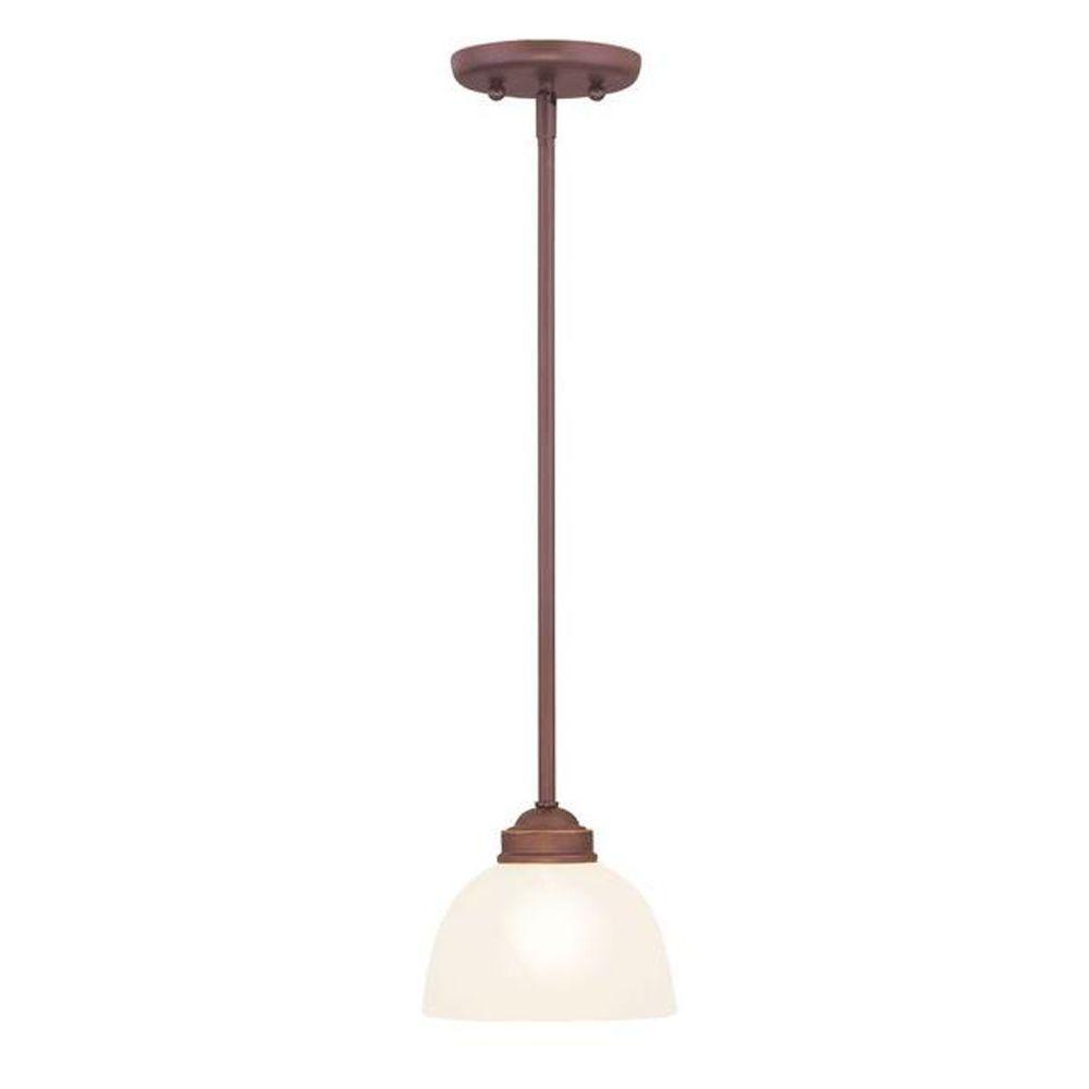 Livex Lighting Providence 1-Light Vintage Bronze Incandescent Pendant