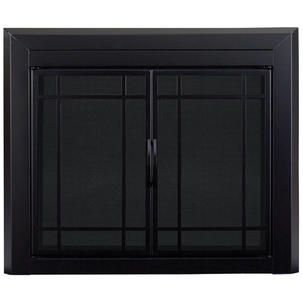 Pleasant Hearth Easton Large Glass Fireplace Doors Ea 5012 The