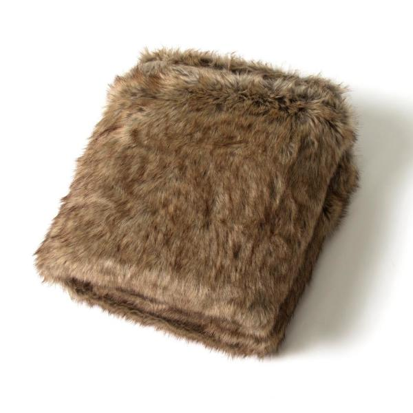 Coyote Faux Fur Throw Blanket
