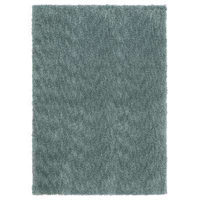 Ethereal Shag Aqua Sea 5 ft. x 7 ft. Indoor Area Rug