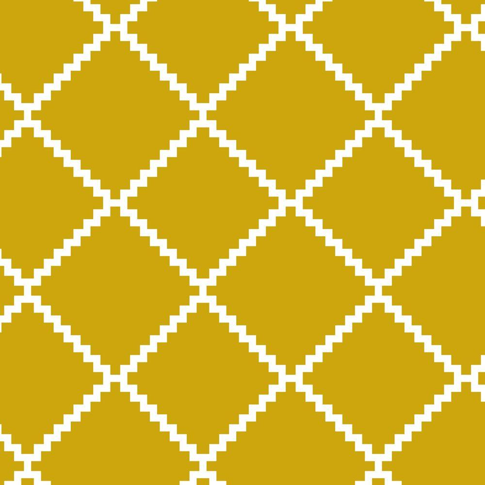 Stencil Ease Dhurrie Wall Painting Stencil - 19.5 in. x 19.5 in ...