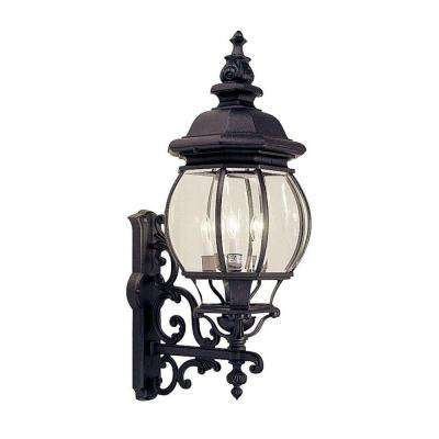 Providence 4-Light Black Outdoor Incandescent Wall-Mount Lantern Sconce