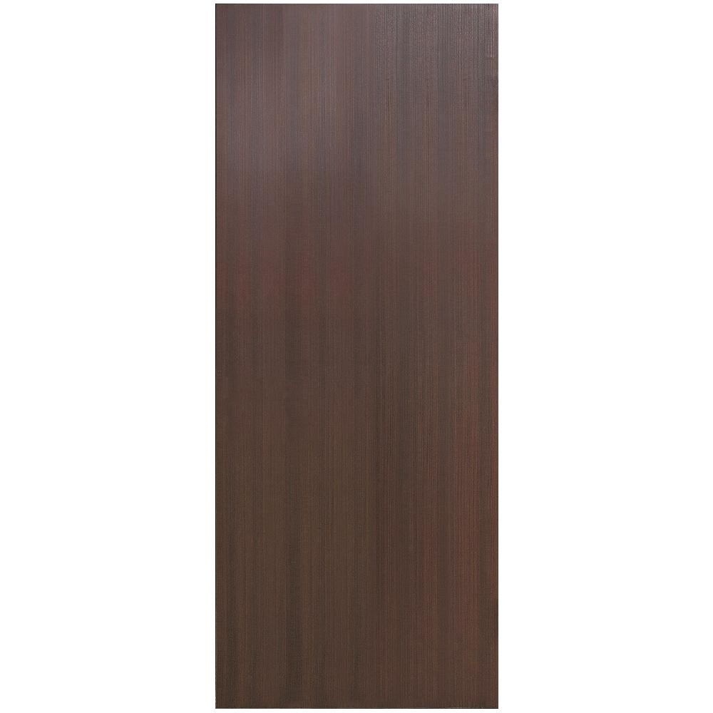 Charmant 32 In. X 80 In. Collory Finished Dark Brown Wood Grain Flush Panel Hollow