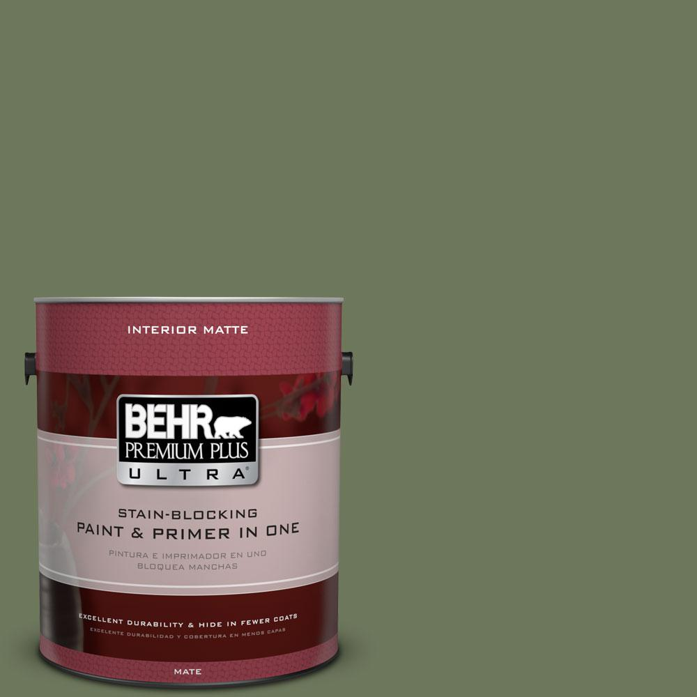 1 gal. #420F-6 Egyptian Nile Matte Interior Paint and Primer in