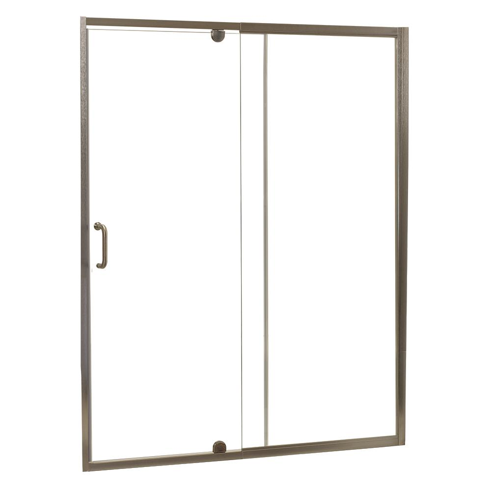 Cove 42 In W X 69 In H Frameless Pivot Shower Door And