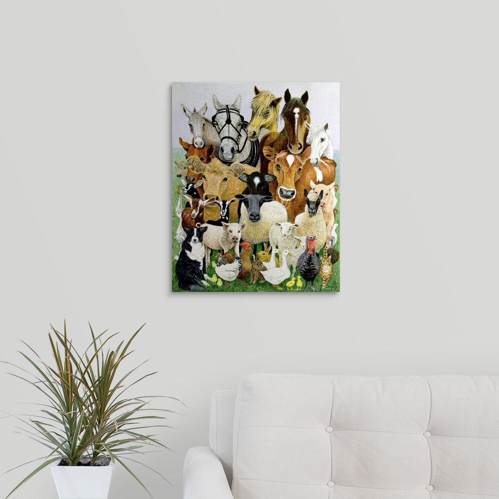 """Animal Allsorts"" by Pat Scott Canvas Wall Art"