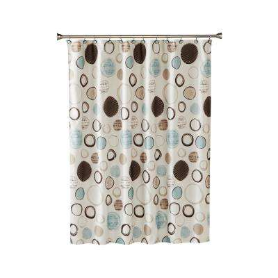 Otto 70 in. Shower Curtain In Neutral