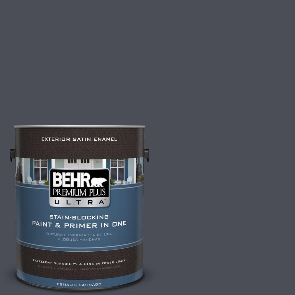 BEHR Premium Plus Ultra 1-gal. #PPU15-20 Poppy Seed Satin Enamel Exterior Paint