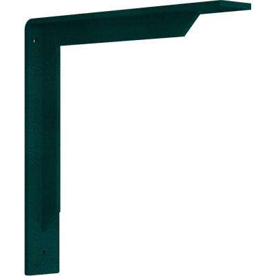 2 in. x 12 in. x 12 in. Steel Hammered Deep Green Stockport Bracket