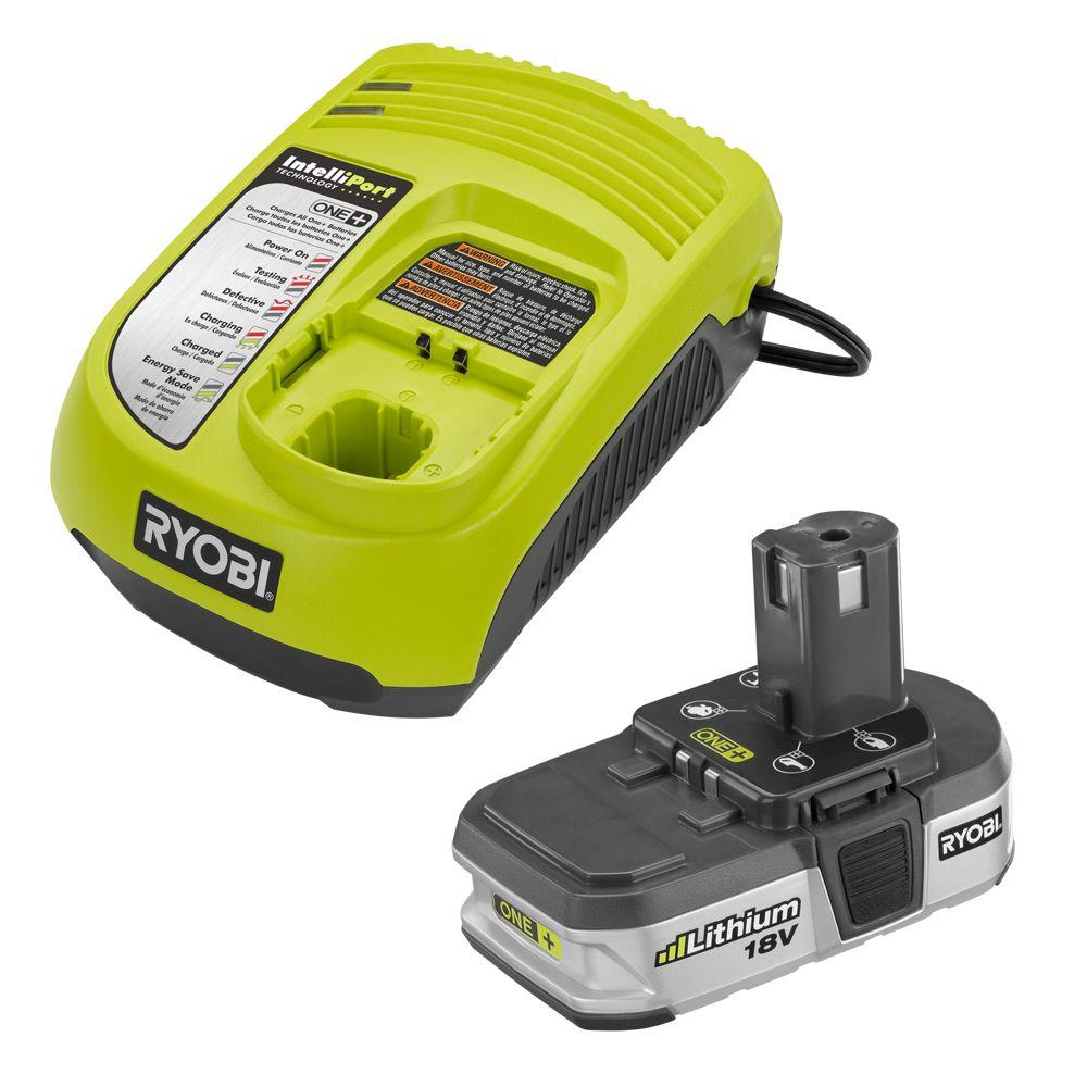 Ryobi 18-Volt One+ Lithium-Ion Battery and Charger Upgrade Kit