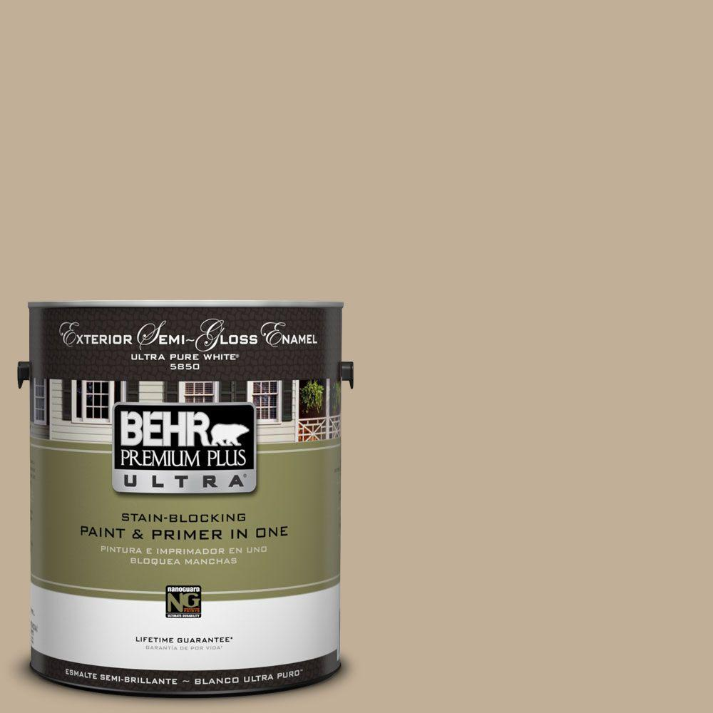 BEHR Premium Plus Ultra 1-Gal. #UL170-17 Vast Desert Semi-Gloss Enamel Exterior Paint