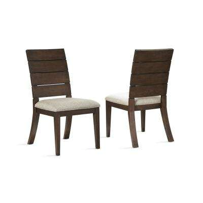 Elora Dark Oak Ladder Back Side Chair - set of 2
