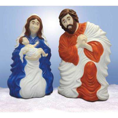 31 in. Nativity Set with Light (2-Piece)