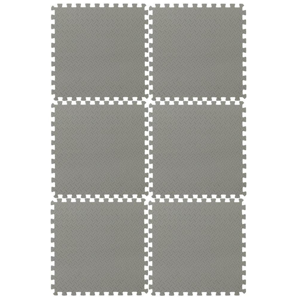 EVA Foam Mat Collection Gray 144 in. x 216 in. Yoga