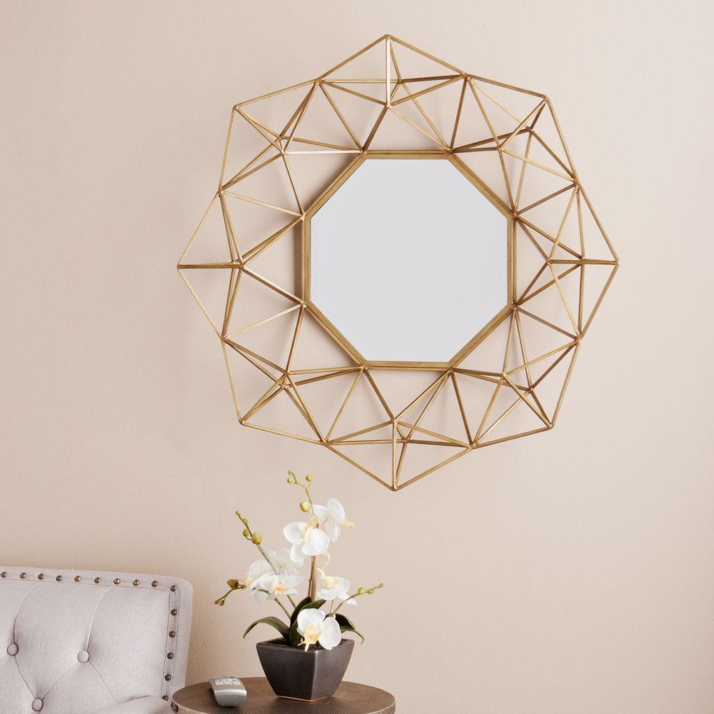 W Geometric Wall Mirror