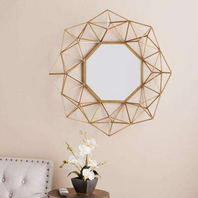 Flagler 29 in. H x 30 in. W Geometric Wall Mirror