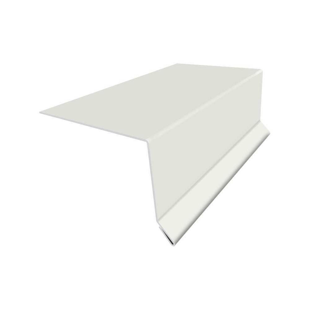 4 in x 10 ft. 26GA Bone White Eave Flashing