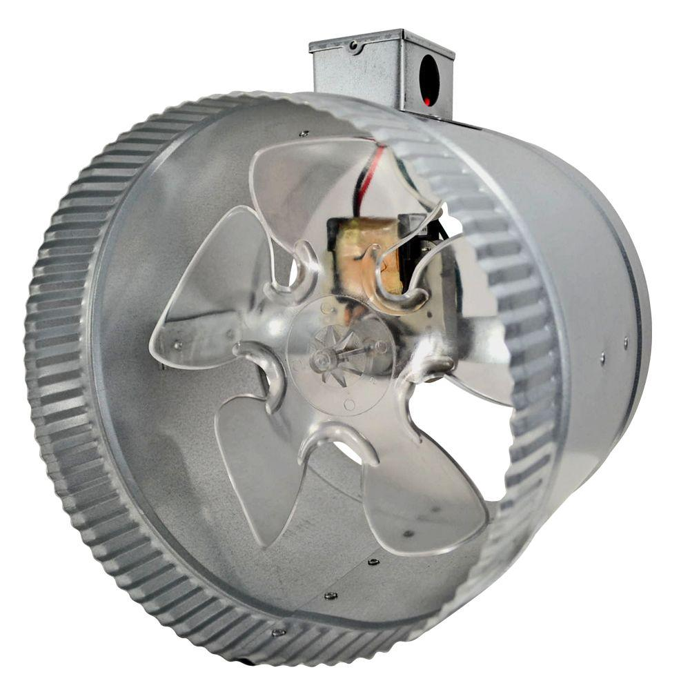 8 in. 2-Speed Inline Duct Fan