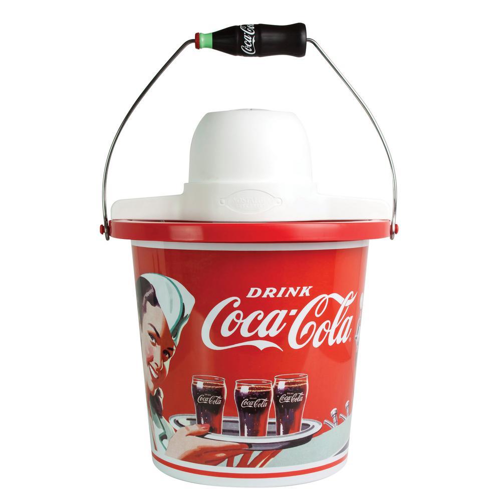 Nostalgia Coca-Cola Limited Edition 4 Qt. Red Ice Cream Maker ICMP400COKE