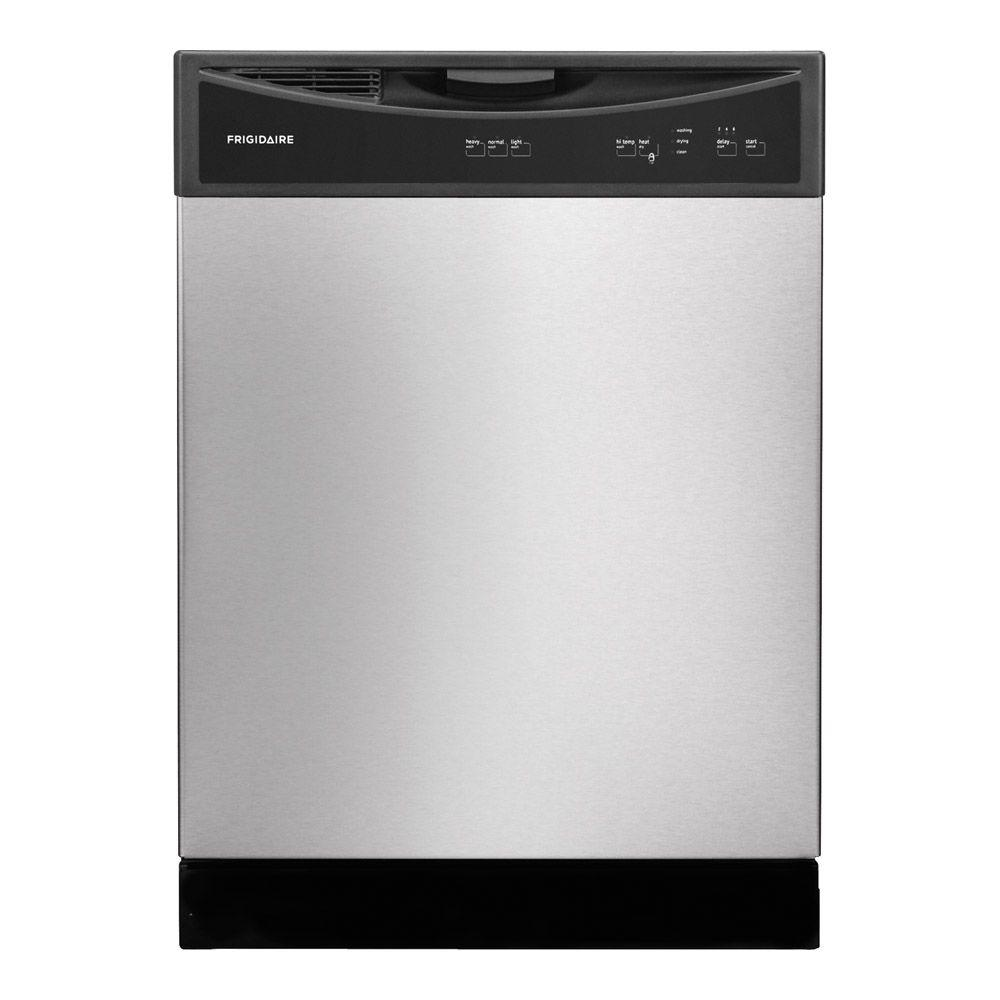 Frigidaire front control dishwasher in stainless steel ffbd2406ns frigidaire front control dishwasher in stainless steel rubansaba