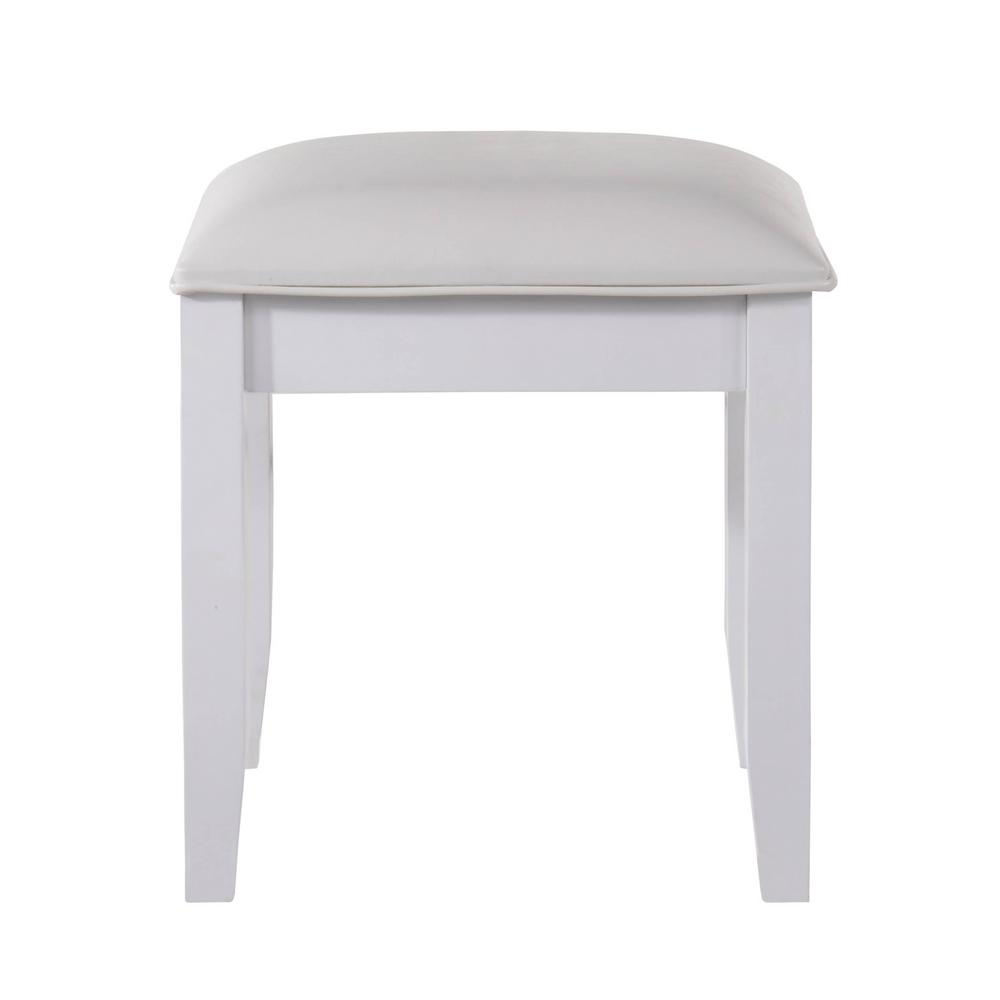 Annie Vanity Stool In White