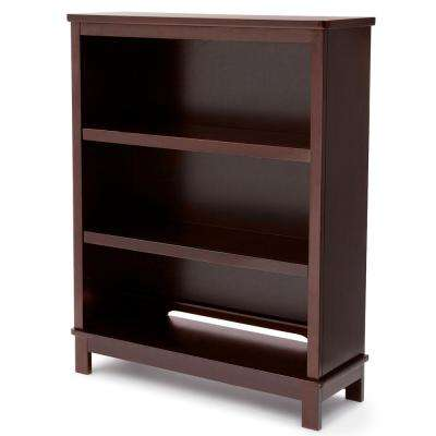 Universal 3-Shelf Chocolate Bookcase