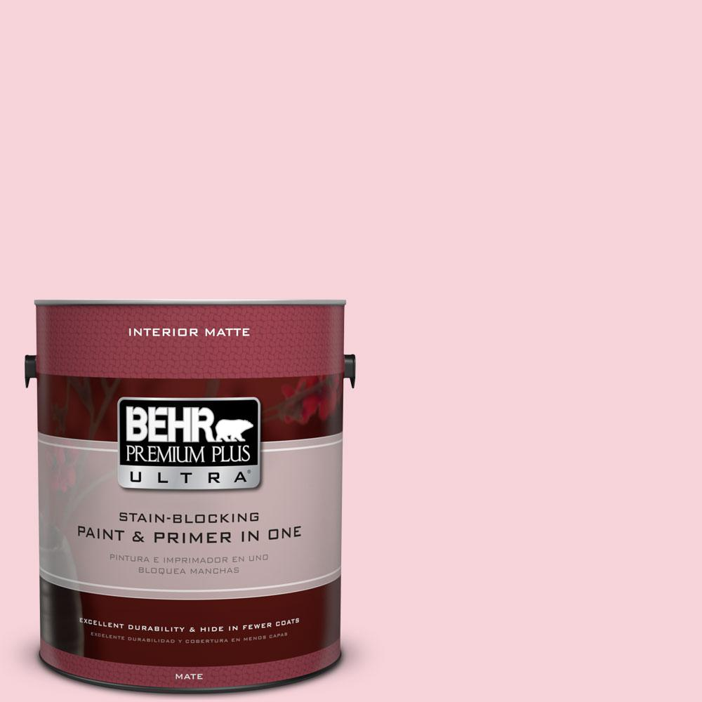 BEHR Premium Plus Ultra 1 gal. #110C-1 Petal Bloom Flat/Matte Interior Paint