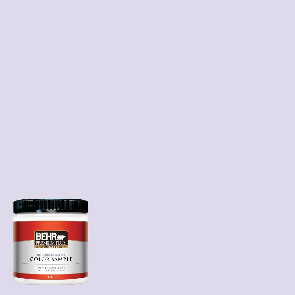 BEHR Premium Plus 8 oz. #640A-2 Misty Violet Interior/Exterior Paint Sample