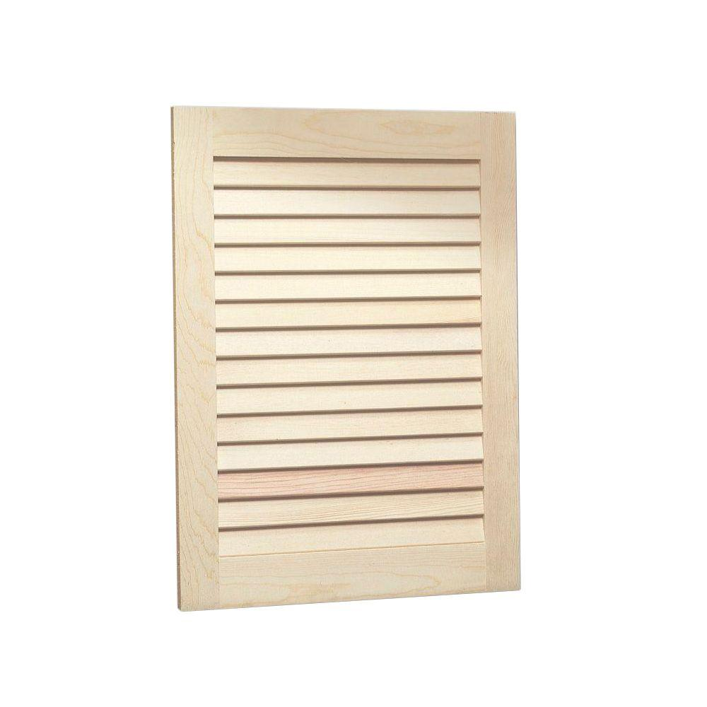 Jensen Louvered 16 In W X 22 In H X 4 1 2 In D Frameless Recessed Bathroom Cabinet With Unfinished Pine Door 607adjx The Home Depot