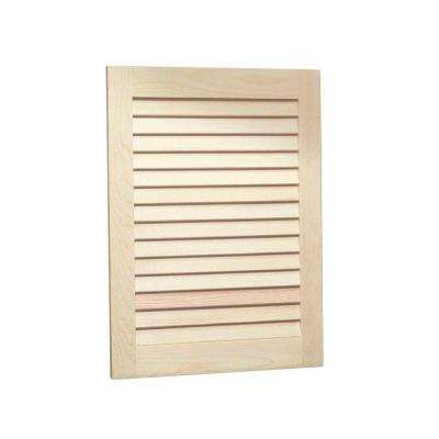 Louvered 16 in. W x 22 in. H x 4-1/2 in. D Frameless Recessed Bathroom Cabinet with Unfinished Pine Door