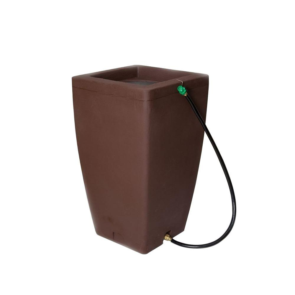 Madison 49 Gal. Rain Barrel in Brownstone
