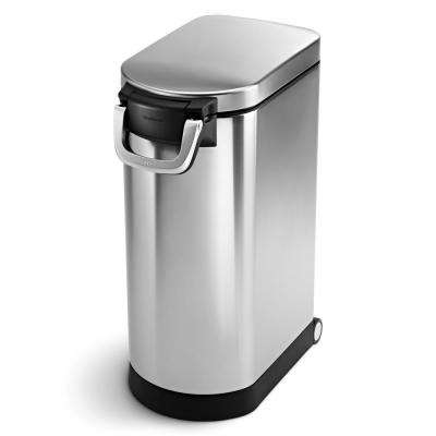X-Large Brushed Stainless Steel in Fingerprint-Proof Pet Food Storage Can