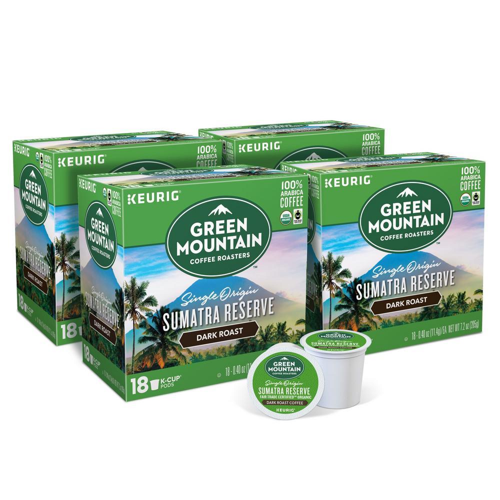 Green Mountain Sumatran Reserve K-Cups (72-Counts)