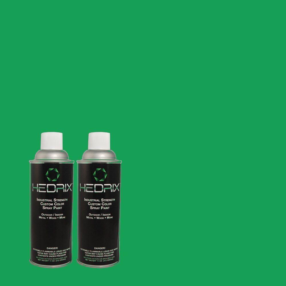 Hedrix 11 oz. Match of S-G-450 Herbal Tea Gloss Custom Spray Paint (2-Pack)
