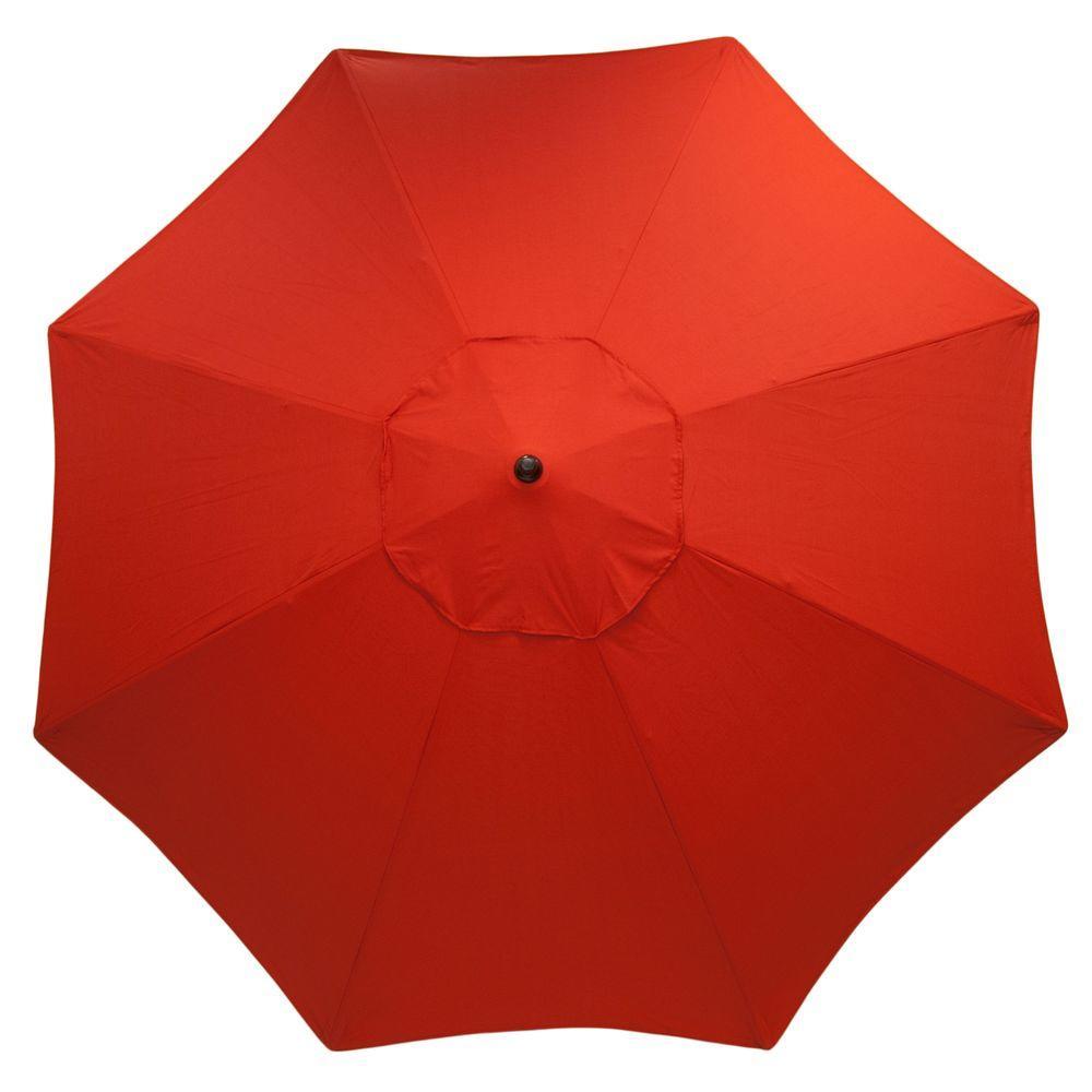 11 Ft. Aluminum Market Patio Umbrella ...