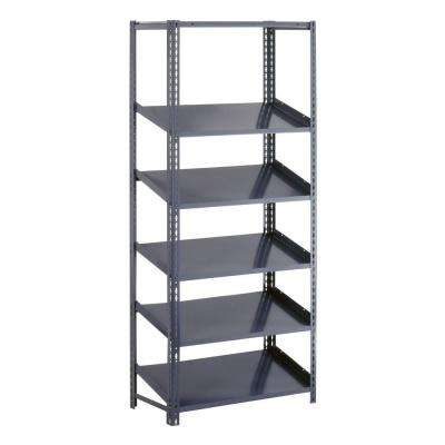 36 in. W x 84 in. H x 24 in. D Steel Commercial Gravity Flow Shelving Unit