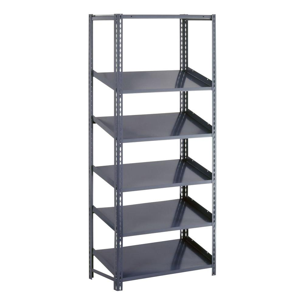 steel storage shelves edsal 72 in h x 48 in w x 18 in d steel 26782