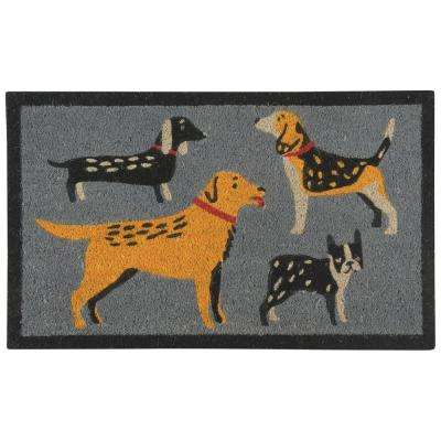 Dog Days Multicolor 18 in. x 30 in. Door Mat