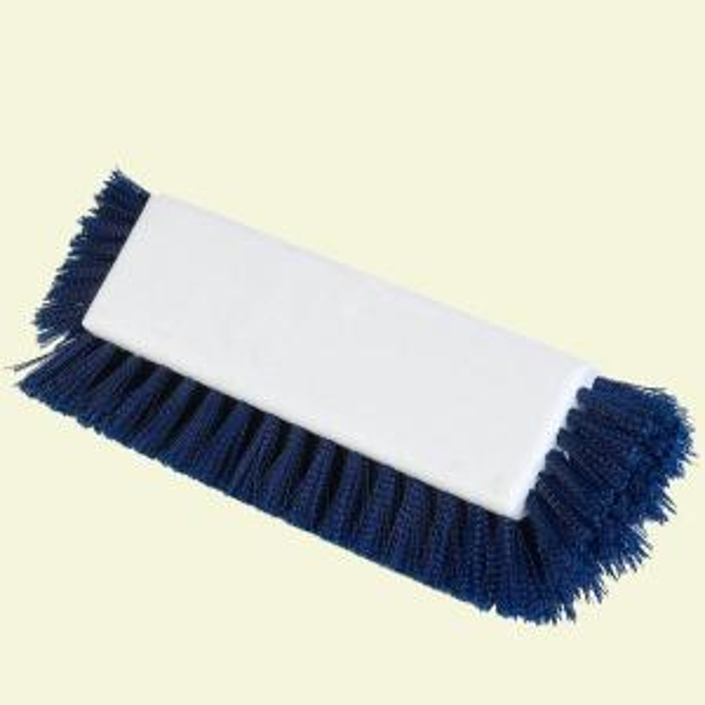 Carlisle 10 inch Blue Scrub Brush with End Bristles (Case of 12) by Carlisle