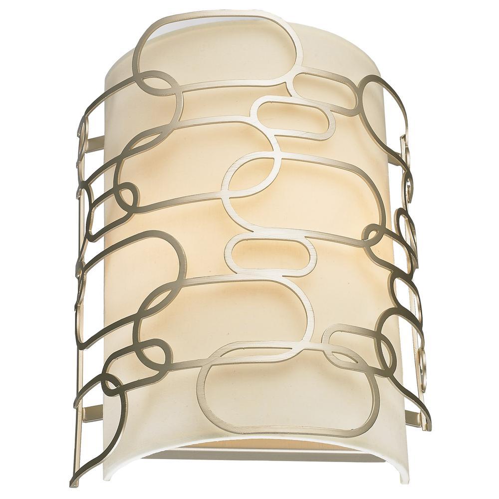 Montauk 2-Light Matte Nickel Wall Sconce