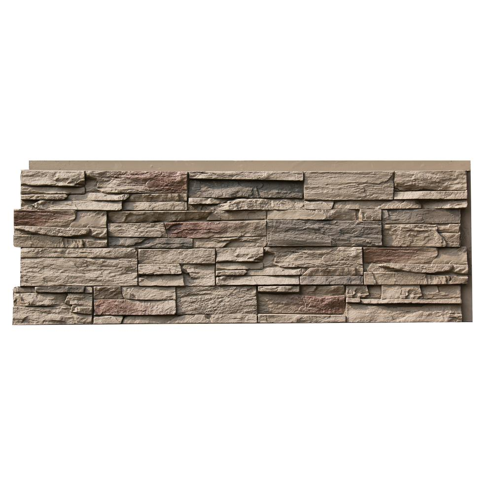 Country Ledgestone 15.5 in. x 43.5 in. Teton Buff Faux Stone
