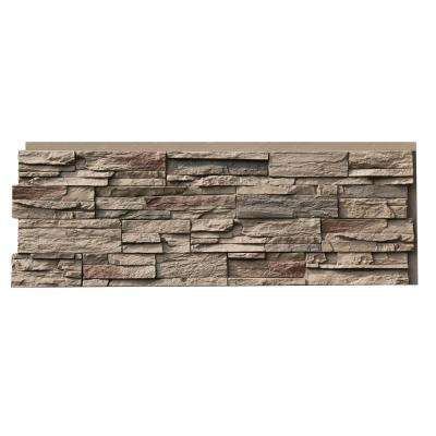 Country Ledgestone 15.5 in. x 43.5 in. Teton Buff Faux Stone Siding Panel (4-Pack)