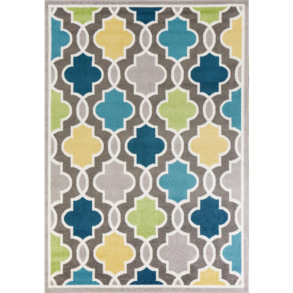 Kas Rugs Skyline Hampton Grey 8 Ft X 10 Trellis Area Rug