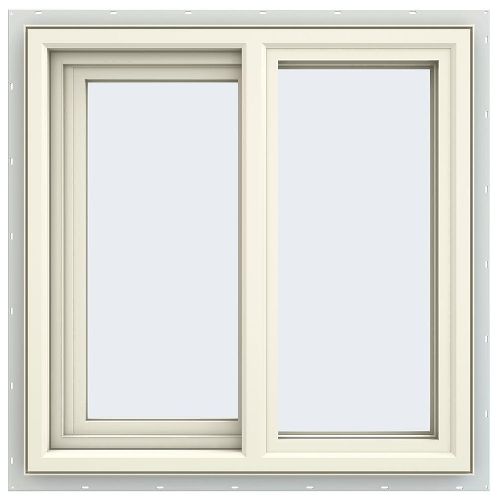 23.5 in. x 23.5 in. V-4500 Series Cream Painted Vinyl Left-Handed