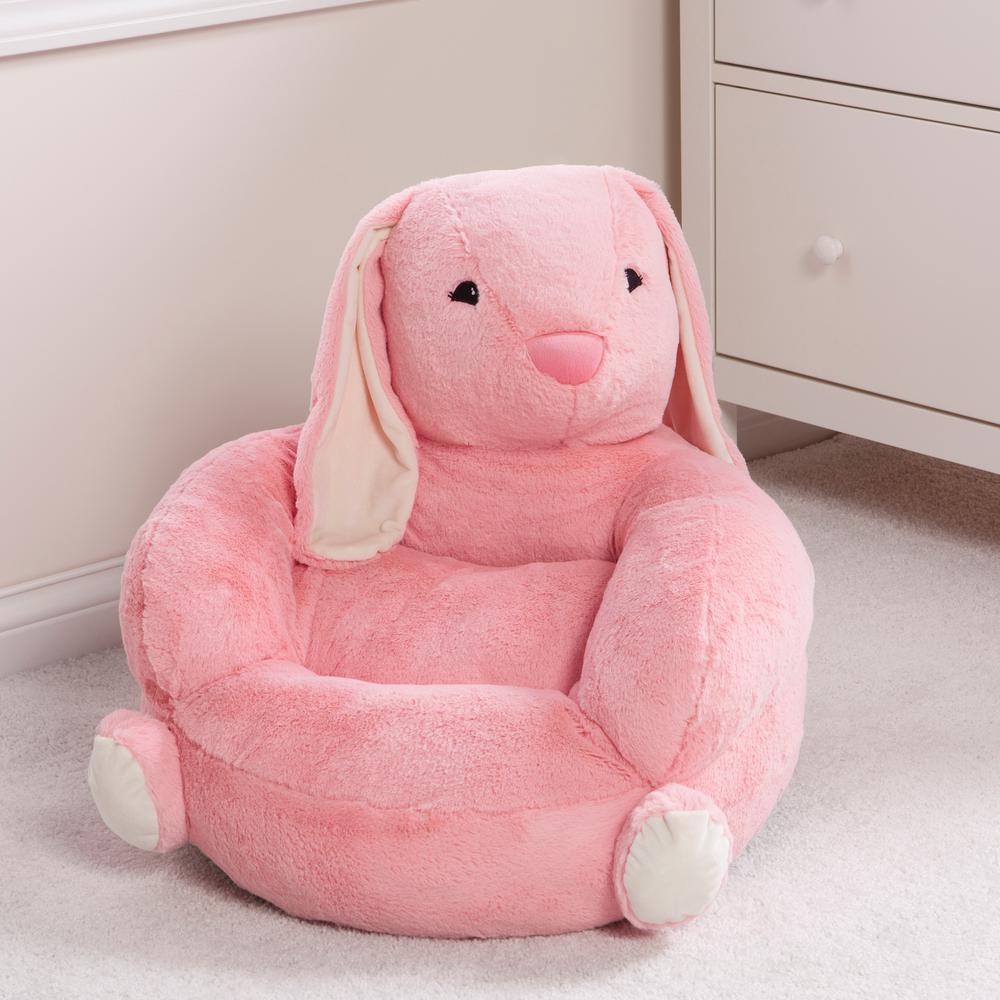Blue Rabbit Adorable Panda Children Seat Sofa Baby Snuggle Sofa Plush Toy for Kids Reading Relaxing