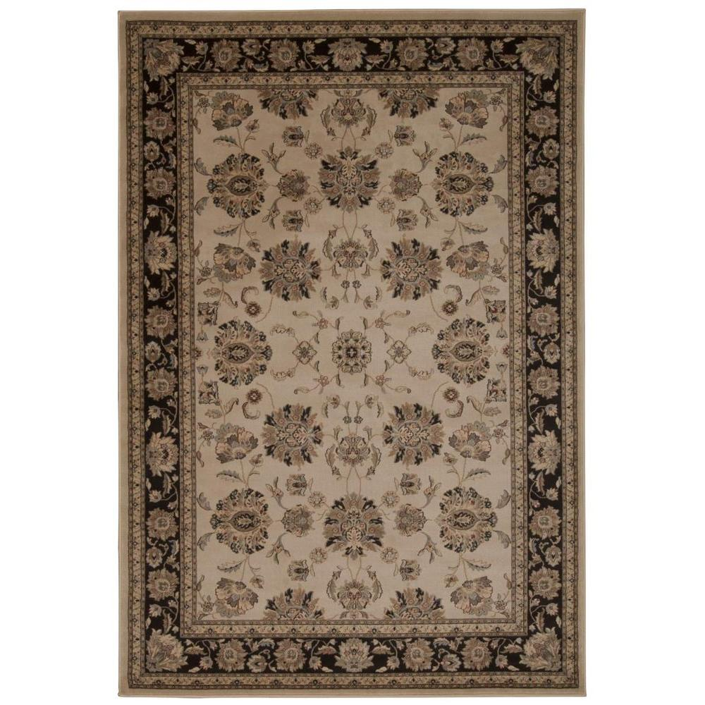 Nourison Ararat Ivory/Grey 9 ft. 3 in. x 12 ft. 9 in. Area Rug