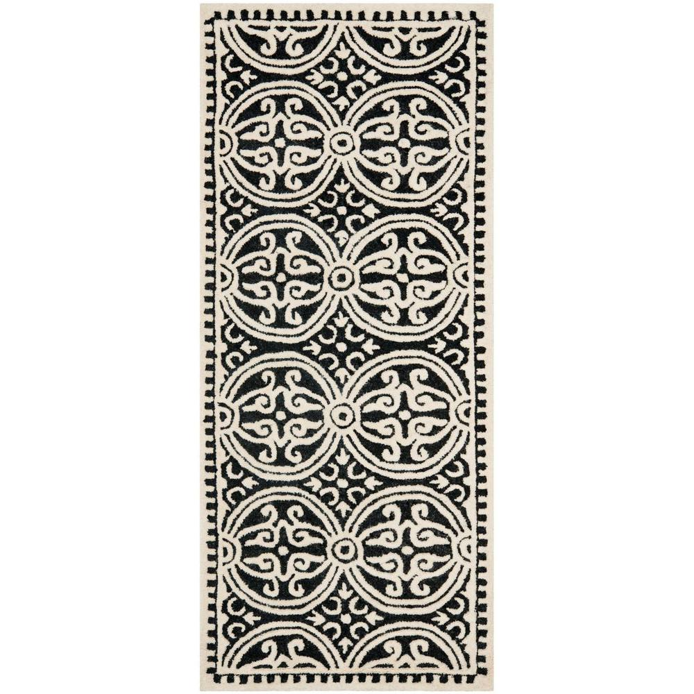 Cambridge Black/Ivory 2 ft. 6 in. x 10 ft. Runner