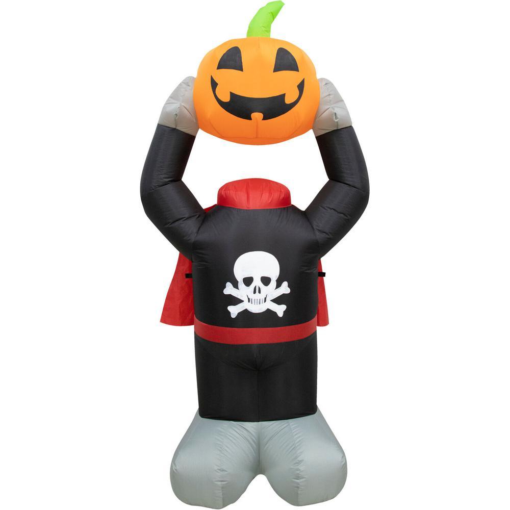 6 ft. Pumpkin Halloween Inflatable with Lights