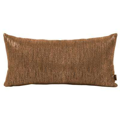 Glam Brown Chocolate Kidney Decorative Pillow
