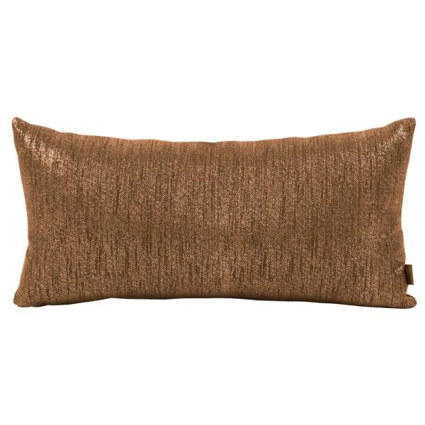 Glam Browns and Tans Solid Polyester 2 in. x 22 in. Throw Pillow